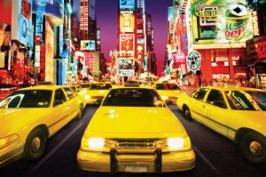 Times Square - Yellow Cabs