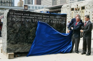 Groundbreaking For Freedom Tower At Ground Zero