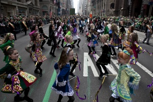 The Irish Dancing Music Association marches during the 251st annual St. Patrick's Day Parade March 17, 2012 in New York City. (Photo by Allison Joyce/Getty Images)