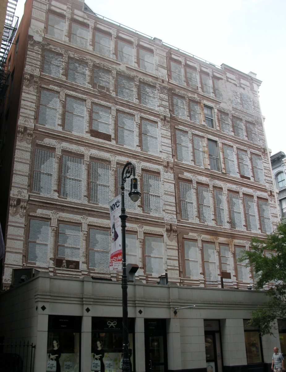 Richard Haas Façade Mural in SoHo